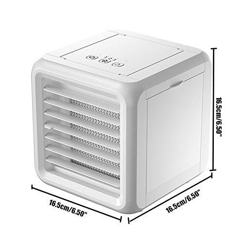 Draagbare Air Conditioner-7 Kleur Air Conditioner Luchtbevochtiger-Purifier USB Desktop Luchtkoeler Ventilator/met 2 Waterreservoirs-Drie versnelling verstelbaar-Geschikt voor Thuis, Kantoor, Vrije tijd, Entertainment
