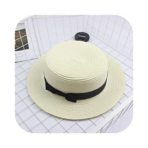 JinJ Pulseras Sombreros para Niñas Lindo Bowknot Playa Cubo de Paja Sombrero para Padres-Niño Mujeres Niñas Gorra Colorido Rosa Rojo-M 18-