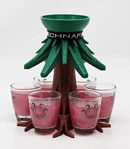 Schnapskrake® - Weihnachts-Trinkbaum - Schnapsverteiler für 6 Personen - made in Germany (ohne Gläser) - Schnaps Ausgießer