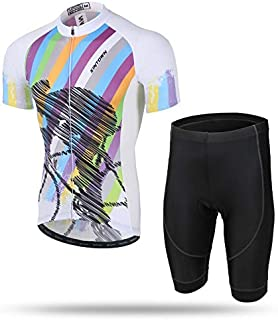 Unkoo Short Sleeve MTB Bike Cycling Clothing Racing Bicycle Clothes Quick-Dry Flour Jersey Men Top Mountain Road Summer Me...