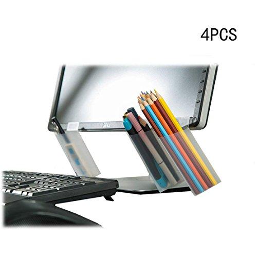 nextnol 4pcs DIY画面ペン鉛筆ホルダー、デスクオーガナイザーコンテナストレージバッグ(三角形)