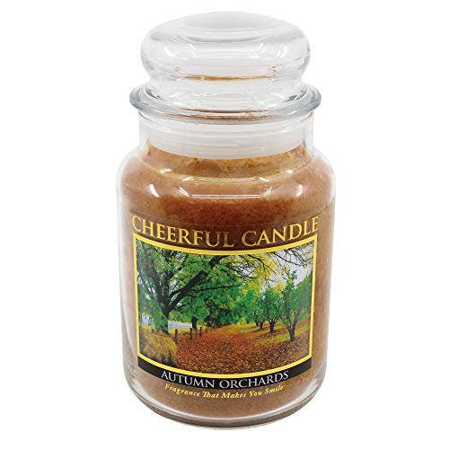 A Cheerful Giver Fröhliche dem Geber Herbst Obstgärten Jar Kerze, 24-Ounce