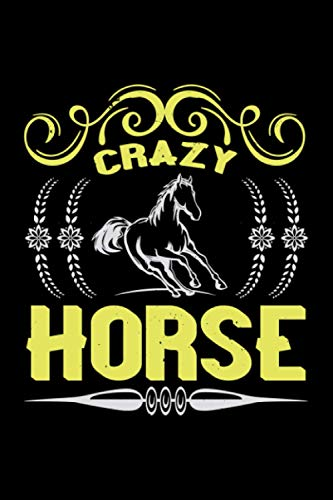 Horse Notebook crazy horse: 125 graph paper pages horses lovers gift horse journal and horses diary for girls & women