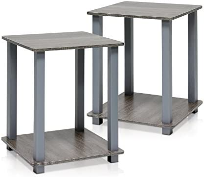 Best Furinno Simplistic End Table, French Oak Grey/Grey