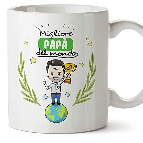 Mugffins papà Tazza/Mug - Migliore papà del Mondo - Idea Regalo Festa del papà/Tazza Miglior papà in Ceramica 350 ml