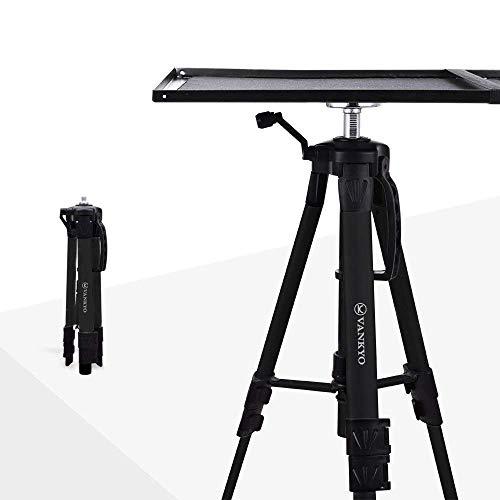 VANKYO Beamer-Ständer Aluminium Bodenständer für Projektor,Universal Stativ Ständer,verstellbar Beamertisch für Beamer Laptop mit Höhe von17 '' bis 46 '' (schwarz)