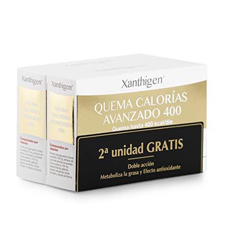 XLS Medical Xanthigen Quema Calorías Avanzado 400, Quema 400 Kilocalorías al Día, Cápsulas Adelgazantes con Efecto Antioxidante - Pack 2 x 90 Cápsulas, 2 Meses de Tratamiento
