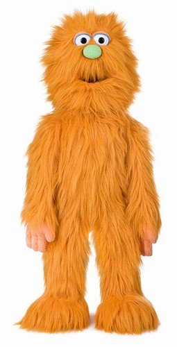30' Orange Monster Puppet, Full Body Ventriloquist Style Puppet