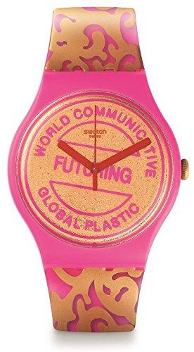 Swatch Suoz200 Futuring Por Eva & Adele Reloj Suizo De Color De Rosa Y Oro Plastic