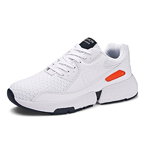WYFC Baskets Hommes Road Running Chaussures Légère Sneakers Sport Chaussures Mesh Althletic Casual Gym Chaussures Hommes,B,46