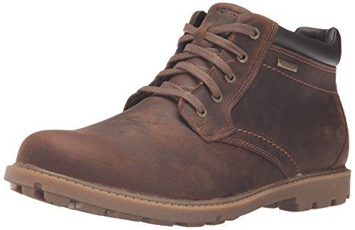 Rockport mens Rugged Bucks Waterproof chukka boots, Boston Tan, 11.5 US