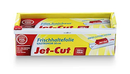 Jet-Cut Frischhaltefolie zum Schneiden, Gastronomie 30cm x 300m, PVC transparent, 1 Stück