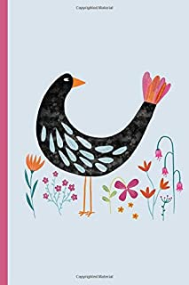 Weekly Planner: A Week to View Diary and Organizer - Sunday Start with Bird with a Fancy Tail Cover Art