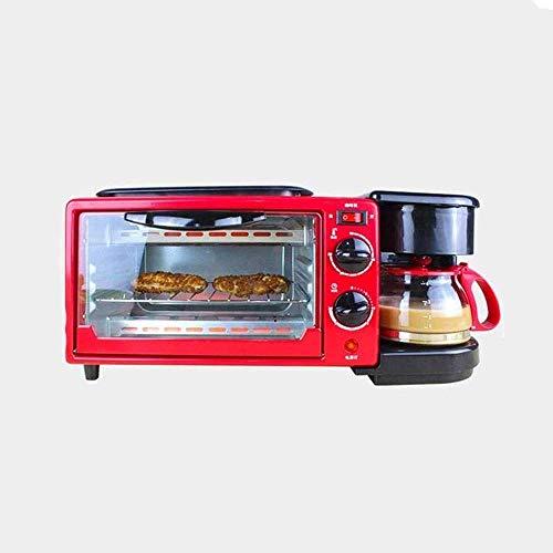 Brood Machine, Toaster 4 Slice, Drie-in-one met Broodrooster Multifunctionele Bake-Broil Instellingen, Natural Convectiono Maak koffie voedsel Barbecue Machine ZHANGKANG