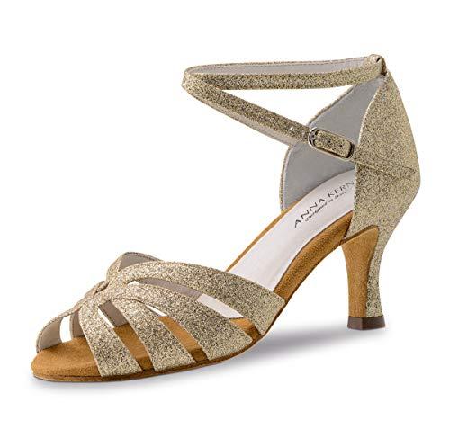 Anna Kern Damen Tanzschuhe 750-60 - Farbe: Gold - Größe: UK 8