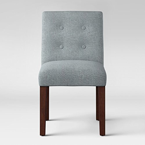 Ewing Modern Dining Chair with Buttons Light Gray - Project 62™