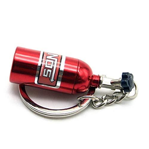 Kreative Stilvolle NOS Mini Nitrous Oxide Flasche Keyring Schlüsselanhänger Ring Keyfob Stash Turbo Keychain Geschenk Red 1PC