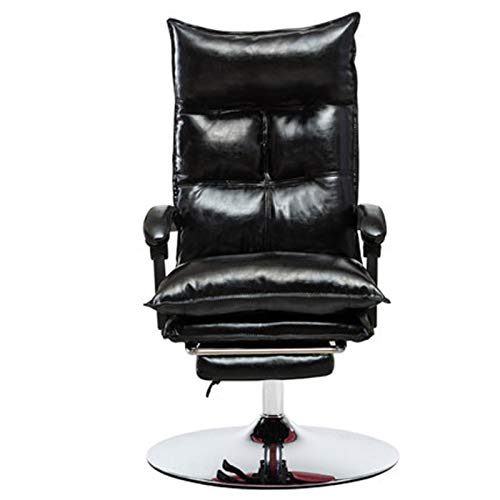 Silla de oficina con forma de corazón para niña, cómoda silla sedentaria, silla de ordenador para el hogar, oficina, de cuero, para descansar, silla de elevación en vivo, silla de jefe negro-