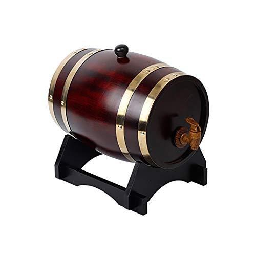QINGGAGA 5l Holzfass mit Gravur, individuelles Eichenfass für Whisky oder Wein, Fass mit Zapfhahn, Stopfen und Holzbock,Vintagecolor,5L