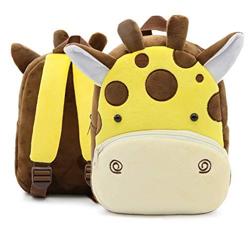 Cute giraffe Plush Kids Backpacks, 3D Cartoon Animal Backpacks Preschool Toddler Children Backpack kindergarten Schoolbag for 2-6 Years Old Girls /Boys