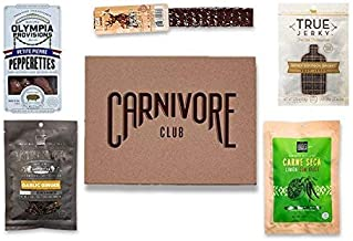 Carnivore Club Beef Jerky Box - Delicious Jerky and Meat Sticks Sampler - 4 to 6 Meat Snacks Jerkygram - Meat Snack Sampler Gift Basket - Ultimate Gift For Meat Lovers