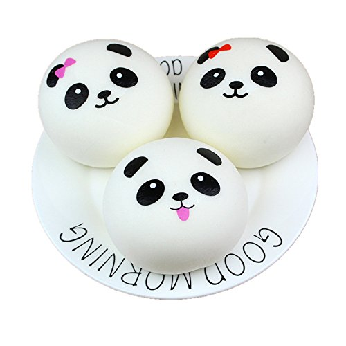 Xuways Random Bun Squishies, Cute Panda Bun Cream Scented Squishies Slow Rising Kids Toys Doll, Simulation Animal Toy for Birthday Gift, Collection, Stress Relief, Decorative Props Large