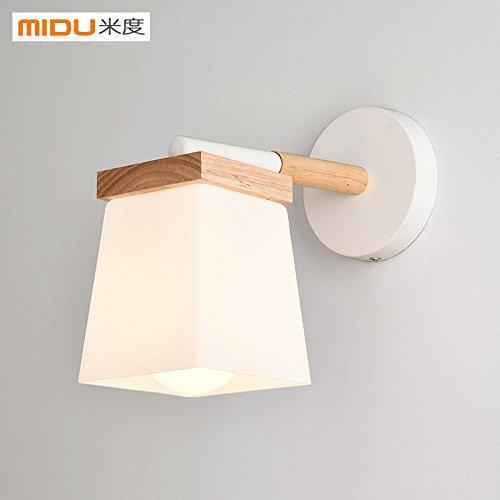JJZHG wandlamp wandlamp waterdichte wandverlichting slaapkamer nachtkastje lamp studie hotel woonkamer leeslamp glas gang wandlamp omvat: wandlamp, stoere wandlampen