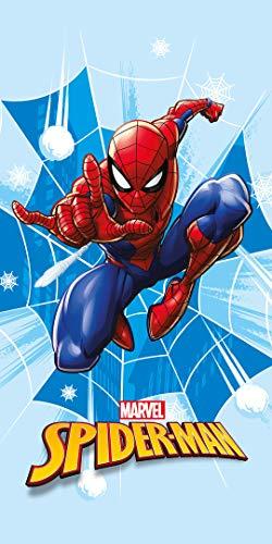 Faro Tekstylia Toalla Playa Microfibra Spiderman 4, Multicolor, 70X140