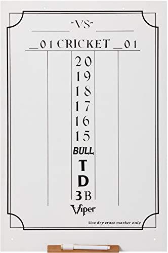 Viper Dry Erase Scoreboard, Cricket and 01 Dart Games, White, 23.5' H x 15.5' W