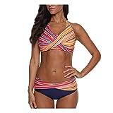 EVAEVA Bikini Mujer Push Up Conjunto de Traje de BañO Sexy Estampado con Relleno Trajes de BañO Mujer 2021 Bikini Dividido BañAdores Ropa de Baño Fiesta Vacaciones