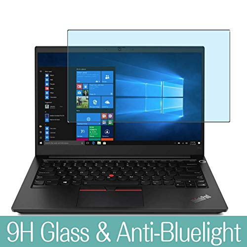 Synvy Anti Blue Light Tempered Glass Screen Protector Compatible with Lenovo ThinkPad E14 Gen 2 2020 14' Visible Area 9H Protective Screen Film Protectors (Not Full Coverage)