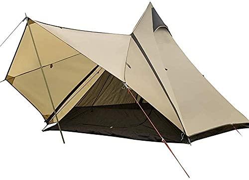 DUWEN Camping Ocio Ultraligero Tienda rápida con toldo, Mochila para Acampar de Equipos al Aire Libre Que Puede acomodar a 3-4 Personas, 320 260 200 cm de campaña