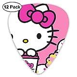 CHLING Paquete de 12 púas de Guitarra de Colores con diseño de Hello Kitty