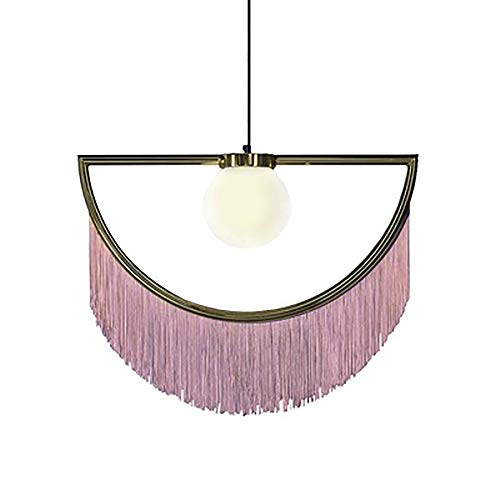 Araña de la Sala de Estar, lámpara Colgante Creativa lámpara de luz con postmodernación con Flecos de Metal para Comedor Sala de Estar