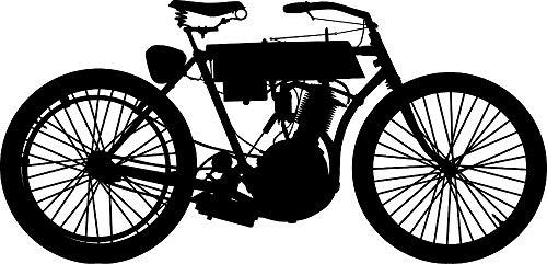 yuandp Afneembare Bike Giant Mall Decal Vinyl Sticker Jongens Slaapkamer Motorfiets Vintage Harley Pinturas Murais Muurschildering Waterproof72 * 34cm