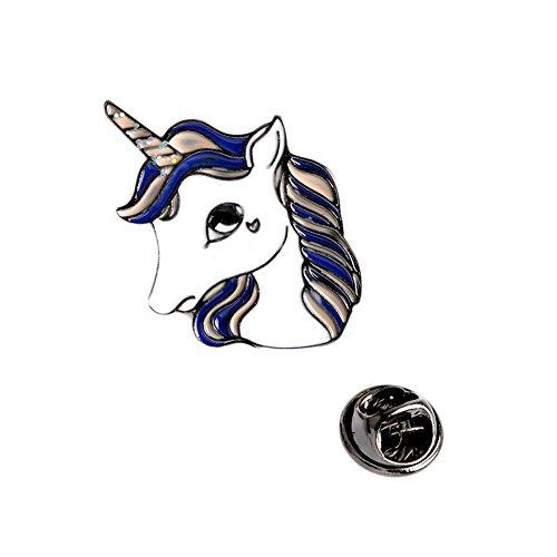 Broche de unicornio de moda pines botón de metal animal caballo denim chaquetas collar insignia para mujeres niña joyería regalo