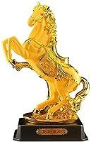 富のシンボル像風水中国の干支馬の装飾新築祝いのリビングルームの工芸品オープニングギフト家の装飾富と幸運の彫像を引き付ける幸運の置物1126(サイズ:Sサイズ)