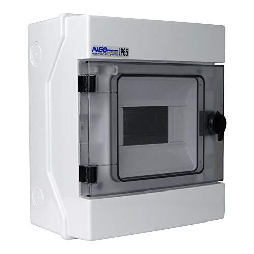 Verteilerkasten RH 6 AP IP65 Feuchtraumverteile 6 module Aufputz Sicherungskasten Prüfzeichen VDE RH6 36.6 Elektro-Plast 4002