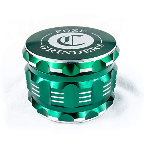 "Best Herb Grinder Premium [Upgraded Version].Large 4 Piece 2.5"" Perfect Grinder For Spice - Color: Green Aluminum"