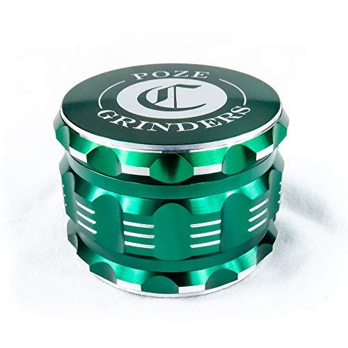 "Best Herb Grinder Premium [Upgraded Version].Large 4 Piece 2.5"" Perfect Grinder For Spice - Color: Green Aluminum"