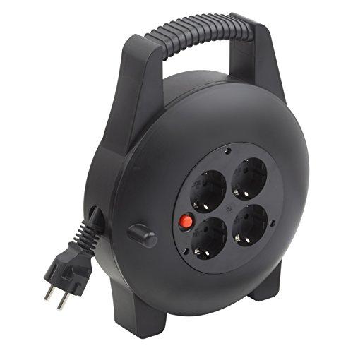 Meister kabelbox H05VV-F3G1,5, IP20-10 m kabel - thermische schakelaar - indoor/kabelrol met 4 stopcontacten/kabelbox met verlengkabel/roller met zwengel / 7435820