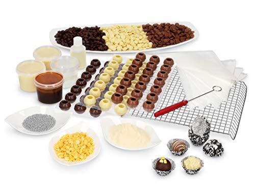 Pati-Versand Pralinenset | Komplett-Set für die eigene Pralinenproduktion | Inklusive Rezepte | Zum Selbermachen