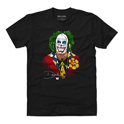 500 LEVEL Doink The Clown WWE Shirt (Cotton, Large, Black) - Doink The Clown Profile WHT