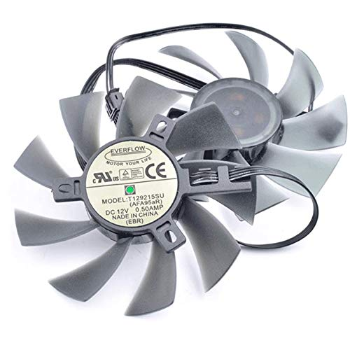 Cooling Fan T129215SU,DC12V 0.50A For GTX-1050 1060 1070 RX580 graphics card cooling double fan