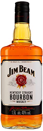 Jim Beam White Kentucky Straight Bourbon Whiskey, vollmundiger und milder Geschmack, 40% Vol, 1 x 1,5l