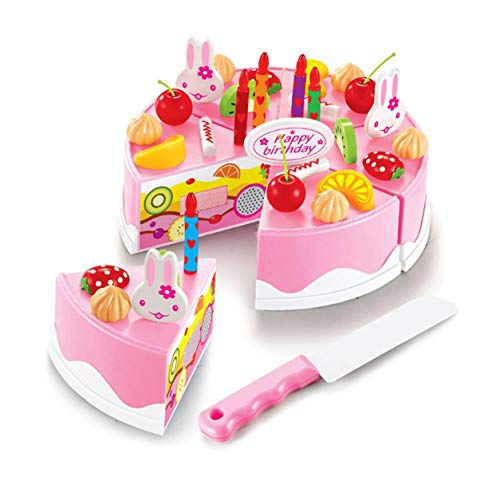 YXDS Cake Toys Practical Plastic Sweet Children Kids Kitchen Playing Role Toys DIY Funny Cutting Birthday Cake Pretend Play Food Toys