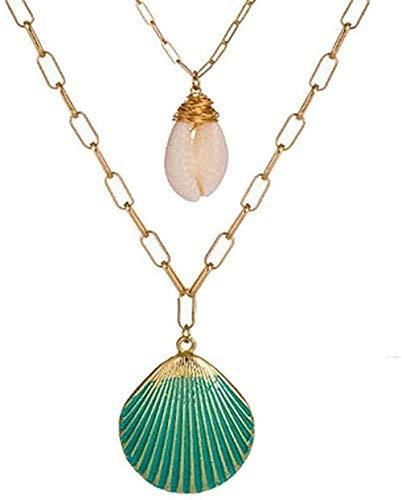 WYDSFWL Collar Boho Sea Star Shell Collares de Perlas y Colgantes amp para Mujeres Regalos de joyería de múltiples Capas