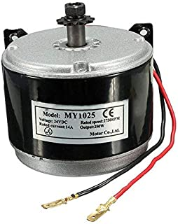 HelloHey 24V Electric Motor Brushed 250W 2750RPM Chain for E Scooter Drive Speed Control