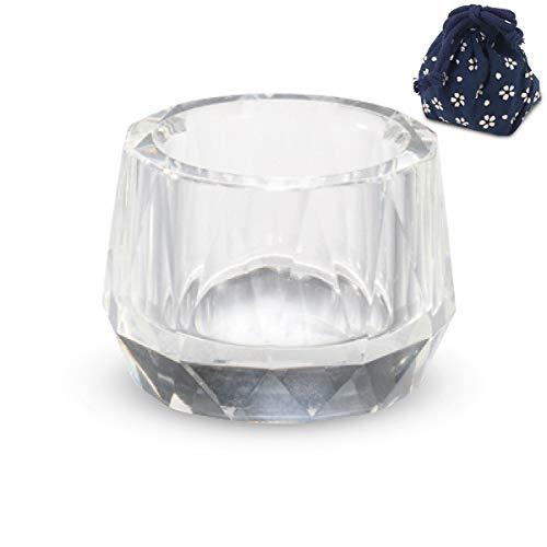 2ジー セレクト(2G Select) 湯呑 ガラス Φ4x3.1cm 仏壇 用 結愛 カットクリスタル 茶湯器 小物入付