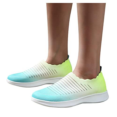 Beudylihy Zapatillas de malla para mujer, zapatos planos, transpirables, para el tiempo libre, para verano y otoño, ligeras y suaves, cómodas, para el tiempo libre, color, talla 37 EU